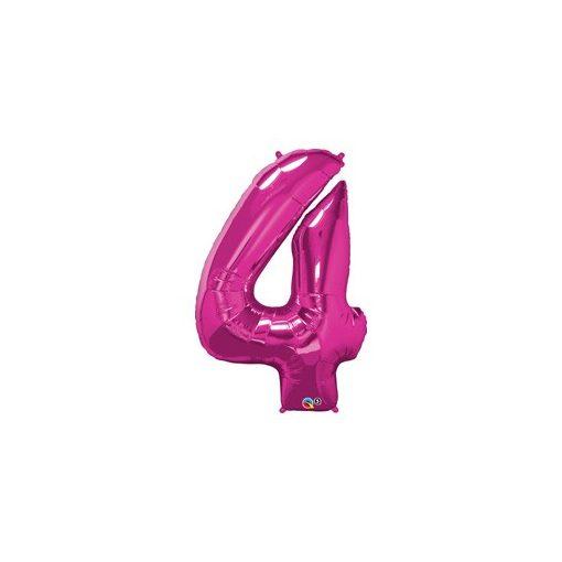 """Számos lufi 34"""" 86cm óriás rózsaszín fólia szám 4, Héliummal töltve, 30567"""