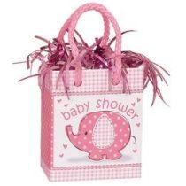 Léggömbsúly, nehezék 160g ajándéktasak forma, Baby Shower, rózsaszín 41678