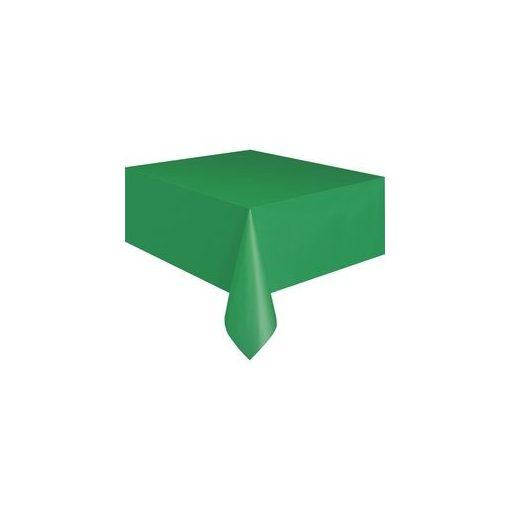 Műanyag asztalterítő 137x274cm sötétzöld, p5091