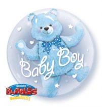 "Baby Boy, Double Bubble lufi 24"" 60cm Lufiban lufi, Héliummal töltve, 29486"