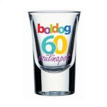 Üvegpohár feles Boldog 60. Szülinapot, 30304