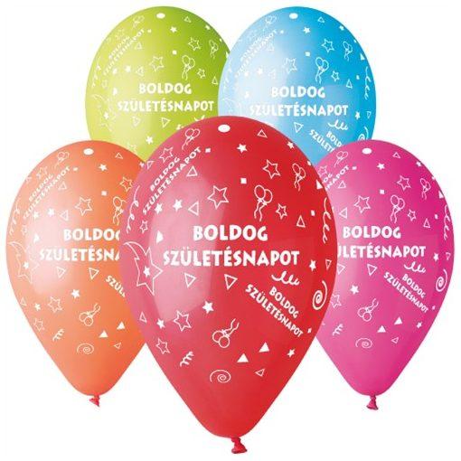 """Szülinapi Latex lufi (gumi) 11"""" 10db/csomag Boldog Születésnapot - 11-printBSZ10"""