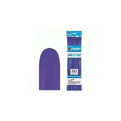 QUALATEX 260Q modellező lufi 50db/csomag lila