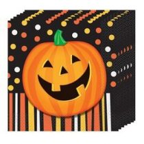 Koponyás Parti Szalvéta Halloween - 33 Cm X 33 cm, 16db, 49192