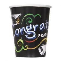 Papírpohár 270ml 8db Congrats Graduate,  ballagásra,  p43626