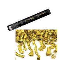 Konfetti ágyú, 60cm, arany fólia szalagokat és téglalapokat kilövő, sw2290g0