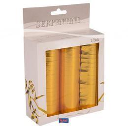 Szerpentin metál arany 3db, 22750