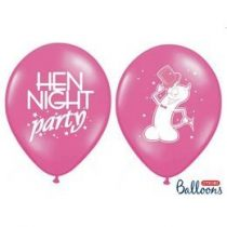 "Lánybúcsúra latex lufi 11"" 28cm  6db Hen Night Party, oSB14P-241-006EN/6"