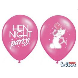 "Lánybúcsúra latex lufi 11"" 28cm  6db Hen Night Party, oSB14P-241-006EN/6"