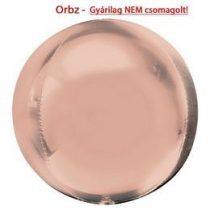 """Egyszínű fólia gömb lufi 24"""" 60cm Rose gold Orbz XL, héliummal töltve"""