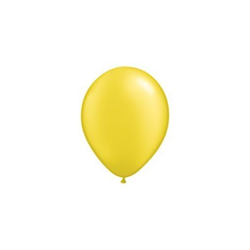 """QUALATEX 11"""" (28cm-es) Latex léggömb, pearl színek gyöngyház sárga lufi, pearl citrine yellow"""