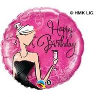 """Szülinapi fólia lufi 18"""" 45cm Happy Birthday, 45330, héliummal töltve"""