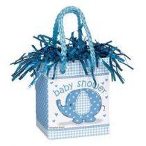 Léggömbsúly, nehezék 160g ajándéktasak forma, Baby Shower, kék 41718