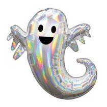 """Óriás fólia lufi 28"""" 71cm szellem, Halloween, 3998601, héliummal töltve"""