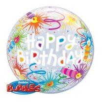 """Szülinapi Bubbles lufi 22"""" 56cm Héliummal töltve Happy Birthday, 16658"""