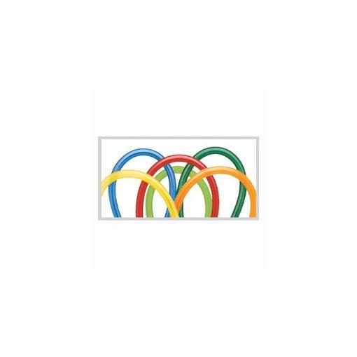 QUALATEX 260Q modellező lufi 100db/csomag vegyes karnevál színek, kukaclufi