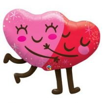 """Óriás fólia lufi 36"""" 91cm ölelkező szív, 97254, héliummal töltve"""