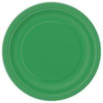 Papírtányér 23cm 8db zöld p31855