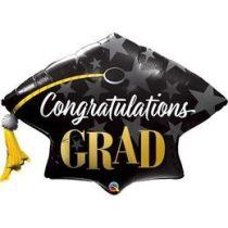 """Ballagási óriás fólia lufi 41""""  Congratulations Grad, 82656, héliummal töltve"""