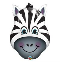 "Óriás fólia lufi 32"" 78cm zebra, 16166, héliummal töltve"
