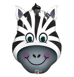 "Óriás fólia lufi 32"" 81cm zebra, 16166, héliummal töltve"