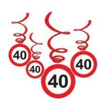 Sebességkorlátozó függő dekoráció 6db-os 40-es számmal, 32995