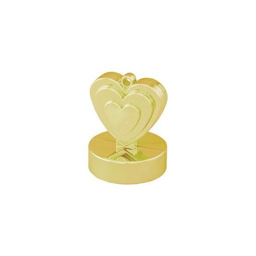 Léggömbsúly, nehezék 110g szív forma, arany színben, 12479
