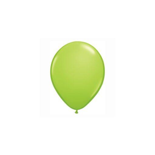 "Lufi QUALATEX 5"" (13cm-es) Latex léggömb, fashion színek 100db/csomag, limezöld, fashion lime green 48594"