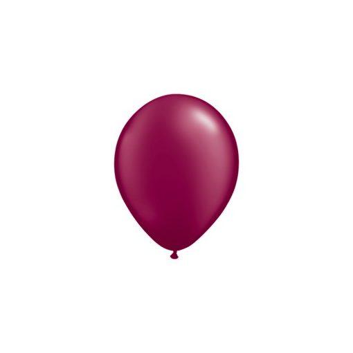 """Lufi QUALATEX 5"""" (13cm-es) gyöngyház (pearl) színek -  100db/csomag - gyöngyház burgundi, pearl burgundy 43578"""