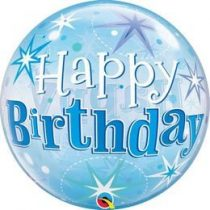 """Szülinapi Bubbles lufi 22"""" 56cm Héliummal töltve Happy Birthday, 48433"""