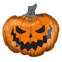 """Óriás fólia lufi 29"""" 73cm ijesztő tök, Halloween, 4004101, héliummal töltve"""