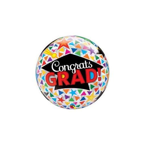 """Ballagási Bubbles lufi 22"""" 56cm Héliummal töltve, Congrats grad, 47366"""