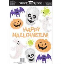 Ablakdekor glitteres Halloween 11db,  a210806