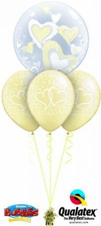 Héliumos luficsokor esküvőre, szív, szerelem, Valentin nap - INGYENES KISZÁLLÍTÁSSAL