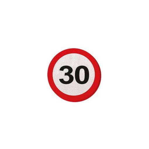 Szalvéta sebességkorlátozó számos 30cm 20db 30-as számmal f28330
