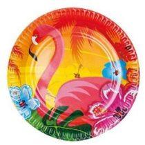 Papírtányér 23cm 6db flamingo t52519