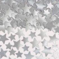 Konfetti fényes ezüst csillag 141g, a37484-18
