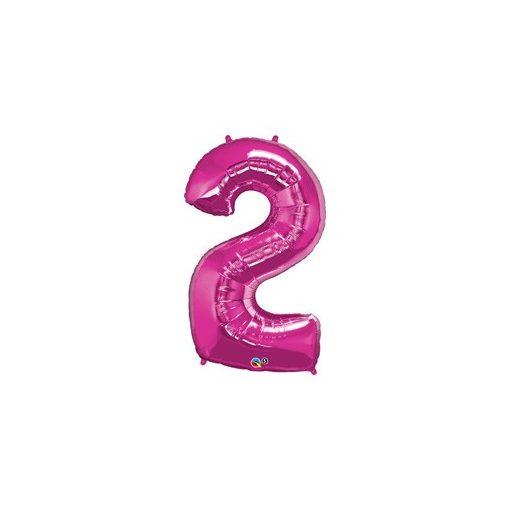 """Számos lufi 34"""" 86cm óriás rózsaszín fólia szám 2, Héliummal töltve, 30559"""
