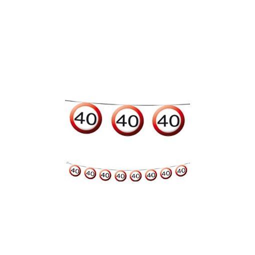 Füzér sebességkorlátozó számos 12m 40-es számmal f05181