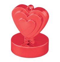 Léggömbsúly, nehezék 110g szív forma, piros színben, 12475
