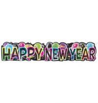 Boldog új évet banner 136cm, 90087