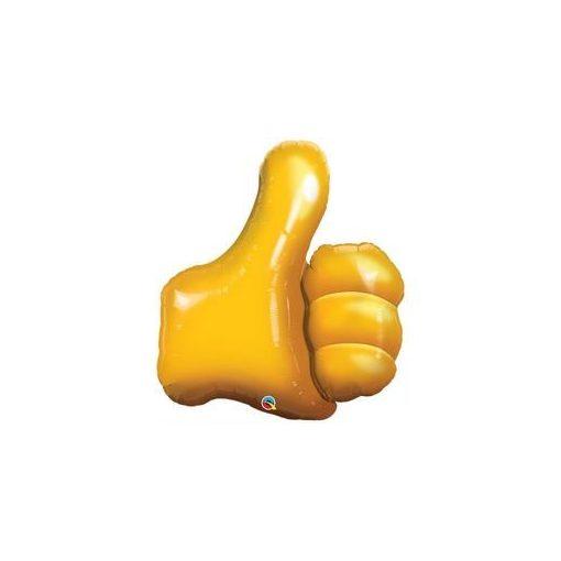 """Ballagási óriás fólia lufi 35"""" 89cm thumbs up, like, 47575, héliummal töltve"""