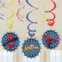 Spirális Függő dekoráció, Spiderman, Pókember, 6db, 9902778
