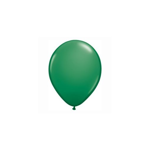 "Lufi QUALATEX 11"" (28cm-es) Latex léggömb, standard színek 100db/csomag, zöld, standard green"