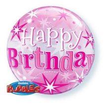 """Szülinapi Bubbles lufi 22"""" 56cm Héliummal töltve Happy Birthday, 43121"""