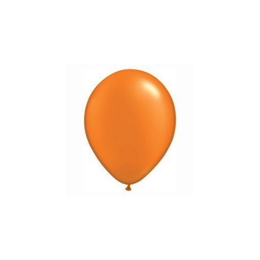 """QUALATEX 11"""" (28cm-es) Latex léggömb, pearl színek gyöngyház narancs lufi, pearl orange"""
