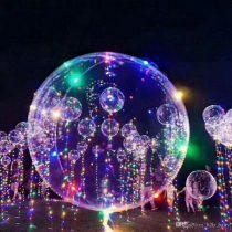 Fólia lufi 50cm, led világítással, héliummal töltve