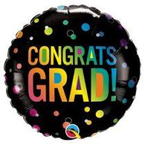 """Ballagási fólia lufi 18"""" 45cm Congrats grad, 98488, héliummal töltve"""
