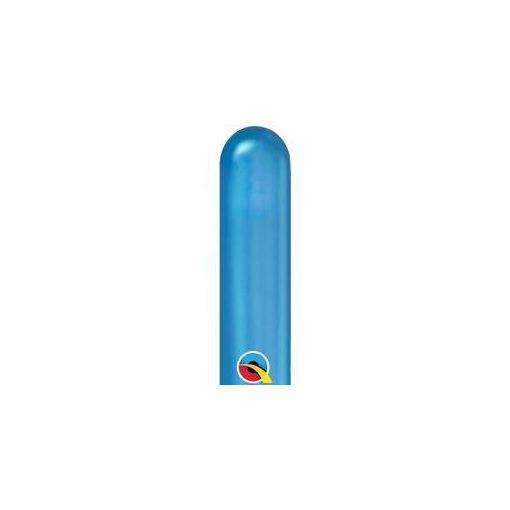 QUALATEX 260Q modellező lufi 100db/csomag chrome kék, 58284