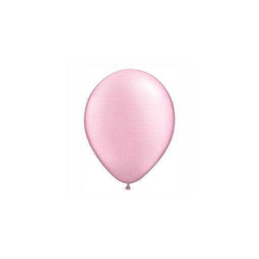 """QUALATEX 11"""" (28cm-es) Latex léggömb, pearl színek gyöngyház rózsaszín lufi, pearl pink"""
